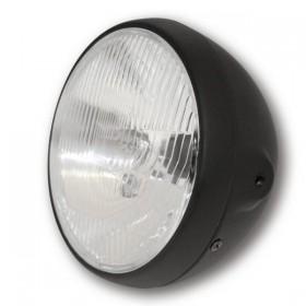 """Přední hlavní světlo BRITISH STYLE s parkovacím světlem, 7"""", H4, černé"""
