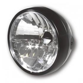 """Přední hlavní světlo 6 1/2"""" čiré s parkovacím světlem, H4, černé matné"""