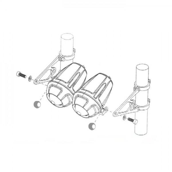 Univerzální držáky předního světla na přední vidlice, CNC, hliníkové, černé, (pár-2ks)