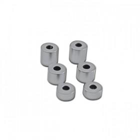 Sada hliníkových distančních válečků, vnítřní Ø 8mm, vnější Ø 20mm, délka 10 / 15 / 20mm, chrom (6ks)