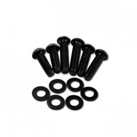 Sada černých ocelových šroubů M8 s podložkami, délka 25 / 30 / 35mm, (12ks)