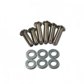 Sada chromovaných ocelových šroubů M8 s podložkami, délka 25 / 30 / 35mm, (12ks)