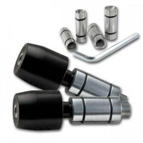 """Hliníková zavažíčka, do řidítek 7/8"""" (22mm) + 1"""" (25mm), barva černá, (pár-2ks)"""