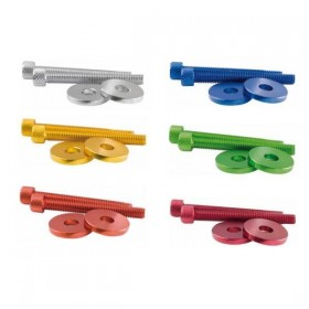 Barevné hliníkové kroužky a šrouby M6 k zavažíčkům MAGIC HS-287050, (dva páry - 4ks)