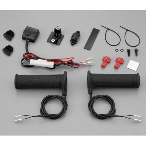 """Vyhřívané rukojeti DAYTONA 3 ATV, na řidítka 7/8"""" (22mm), čtyřstupňové, délka 125 mm, (pár-2ks)"""