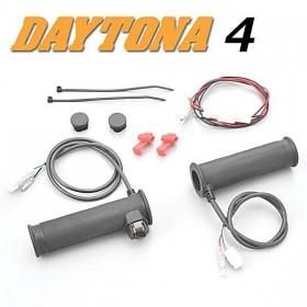 """Vyhřívané rukojeti DAYTONA 4, na řidítka 7/8"""" (22mm), třístupňové, délka 134 / 124 mm, (pár-2ks)"""