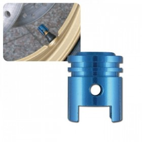 Hliníkové čepičky ventilků ve tvaru pístu, eloxované různé barvy, (pár-2ks)