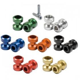 Hliníkové rolny na kyvku, Ø 24,5mm, závit M8x1,25, eloxované různé barvy, (pár-2ks)
