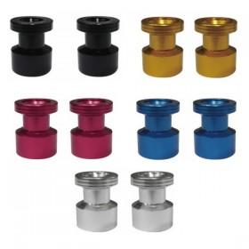 Keiti hliníkové rolny na kyvku, typ A, závit M10x1,25, eloxované různé barvy, (pár-2ks)