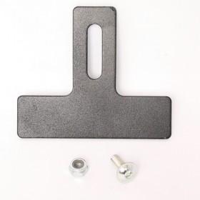 Ocelový nastavitelný držák zadní odrazky, délka 77 mm, rovný, barva černá