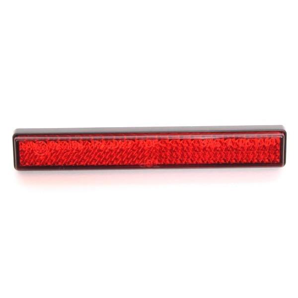 Červená odrazka DAYTONA SLIM, 103 x 16 x 9 mm, uchycení šroubem M5 x 10 mm