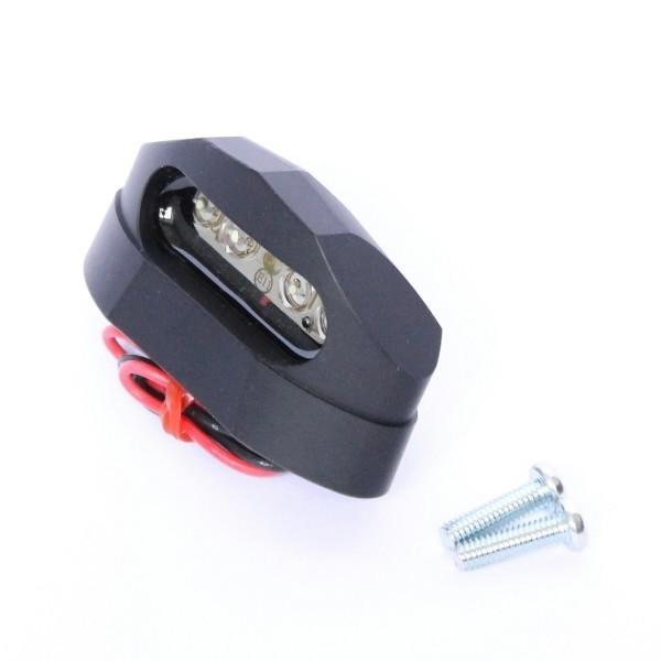 LED osvětlení SPZ MICRO SPACE, černé, hliníkové, 56 x 30 x 24 mm