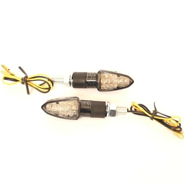 LED blinkry LIZZARD SMOKE, karbon (pár - 2ks)
