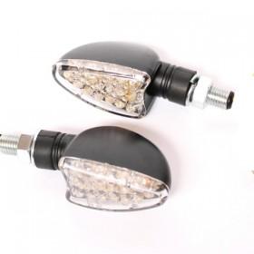 LED blinkry ARROW CLEAR, černé (pár - 2ks)