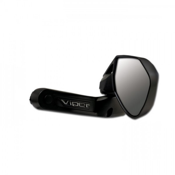 """Zrcátko VIPER 7490, pravé, do řidítek 7/8"""" (22mm) a 1"""" (25mm), hliníkové, černé (1ks)"""