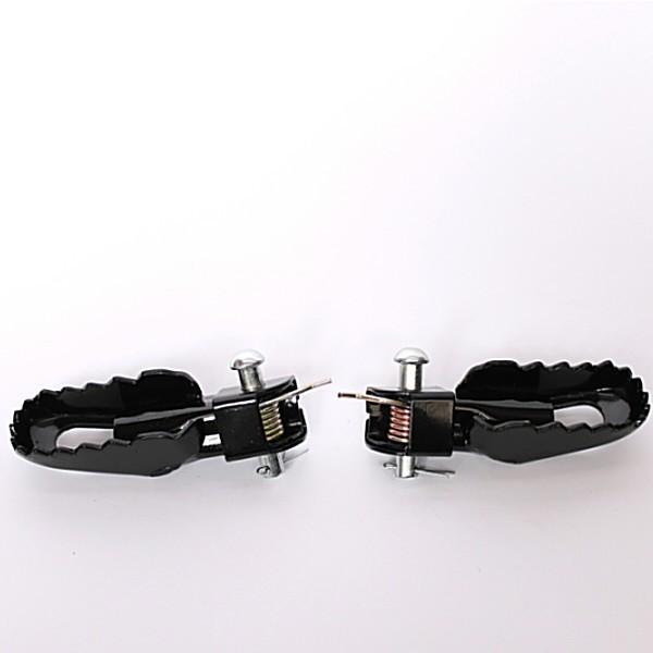 Stupačky univerzální, černé, pro motocykly cross a enduro, (pár-2ks)