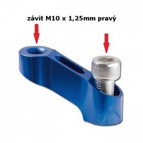 Hliníkový nástavec na zrcátka, délka 45 mm, výška 35 mm, závit M10 x 1,25 mm 2x pravý, barva modrá, (1ks)