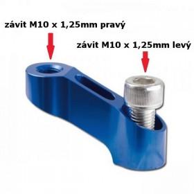 Hliníkový nástavec na zrcátka, délka 45 mm, výška 35 mm, závit M10 x 1,25 mm 1x pravý 1x levý, barva modrá, (1ks)