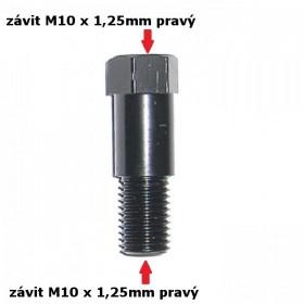 Nástavec na zrcátka, délka 38,5 mm, závit M10 x 1,25 mm 2x pravý, barva černá, (1ks)