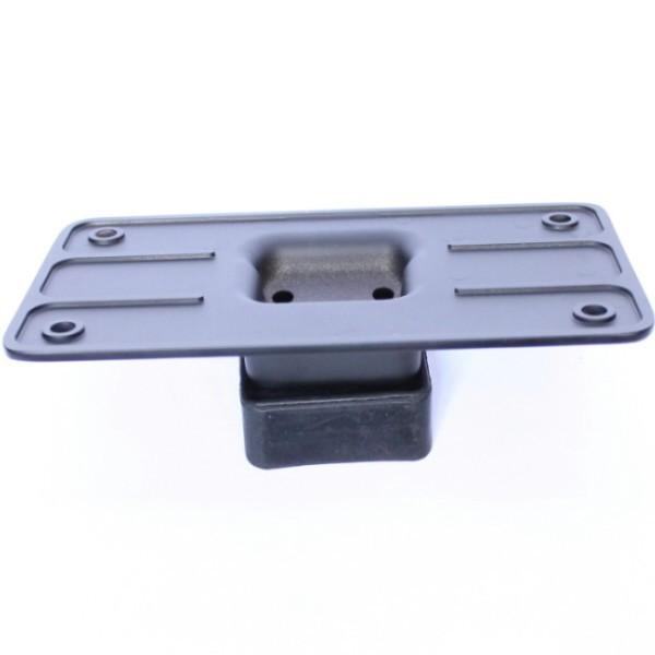 Univerzální držák SPZ s třemi montážními otvory a gumovými podložkami, černý matný