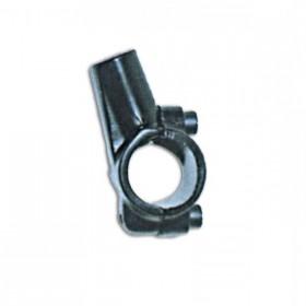 """Hliníková objímka na zrcátka, vnitřní závit M10 x 1,25mm pravý, barva černá, na řidítka 7/8"""" (22mm), (1ks)"""