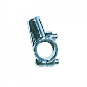 """Hliníková objímka na zrcátka, vnitřní závit M10 x 1,25mm pravý, chromovaná, na řidítka 7/8"""" (22mm), (1ks)"""