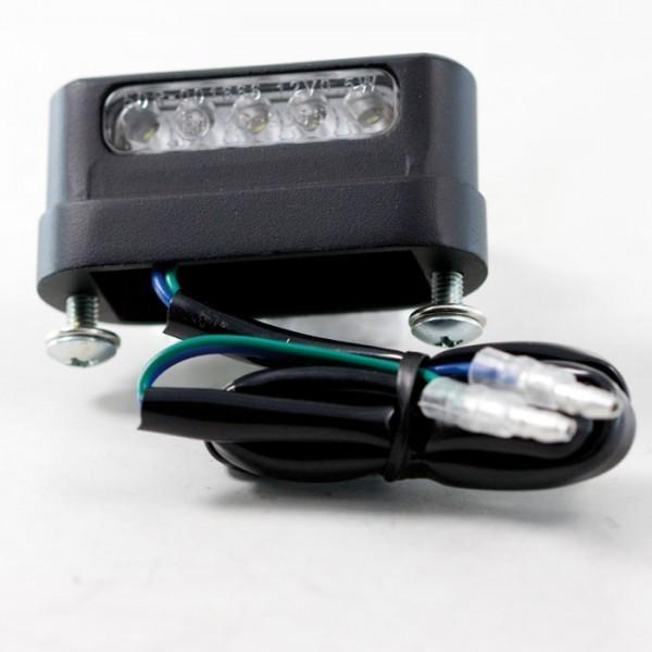 LED osvětlení SPZ FREE LIGHT, černé, hliníkové, 55 x 19 x 26 mm