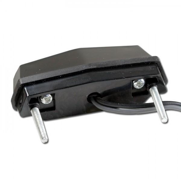 SMD LED osvětlení SPZ,  FLAT, černé, ABS plast, 59 x 20 x 29 mm