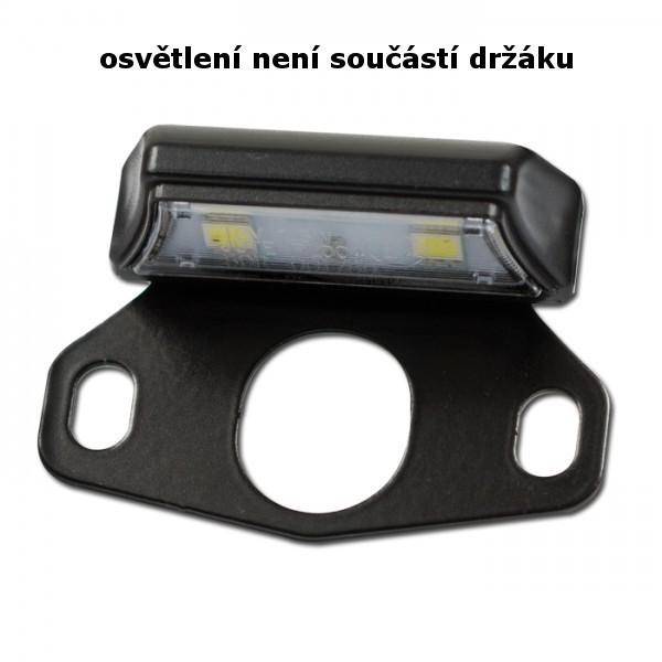 Držák pro LED osvětlení SPZ AXIS, FORTY a BLADE, ocelový, černý