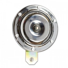 Klakson BIG, Ø 100 mm, 12 V, chromovaný