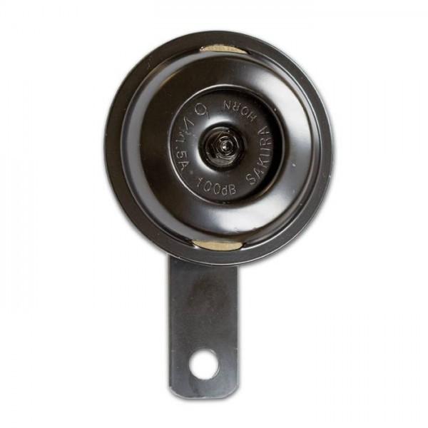 Klakson SAKURA SMALL, Ø 75 mm, 12 V / 100 dB, černý