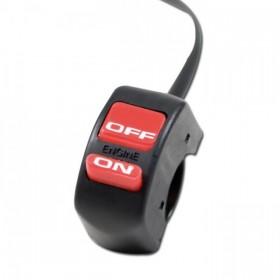 Přepínač zapalování ON / OFF, tlačítka s popisem, jistič, barva černá