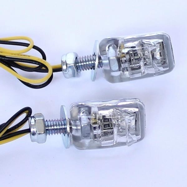 LED osvětlení SPZ, NANO, chrom, čiré (pár - 2ks)