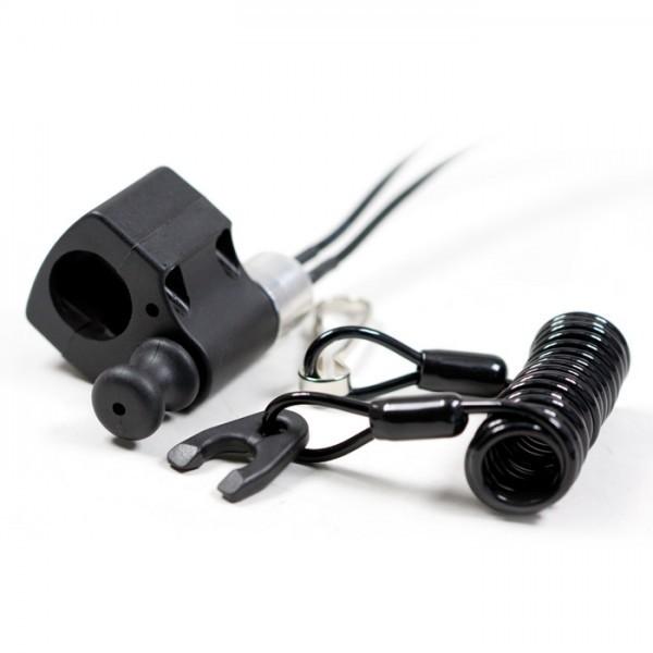 Nouzový vypínač zapalování pro čtyřkolky / ATV, s otevřeným okruhem, barva černá