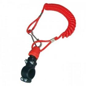 Nouzový vypínač zapalování s otevřeným okruhem, pro čtyřkolky / ATV a motocykly, barva černá / červená