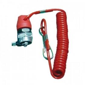Nouzový vypínač zapalování s uzavřeným okruhem, pro čtyřkolky / ATV a motocykly, barva černá / červená