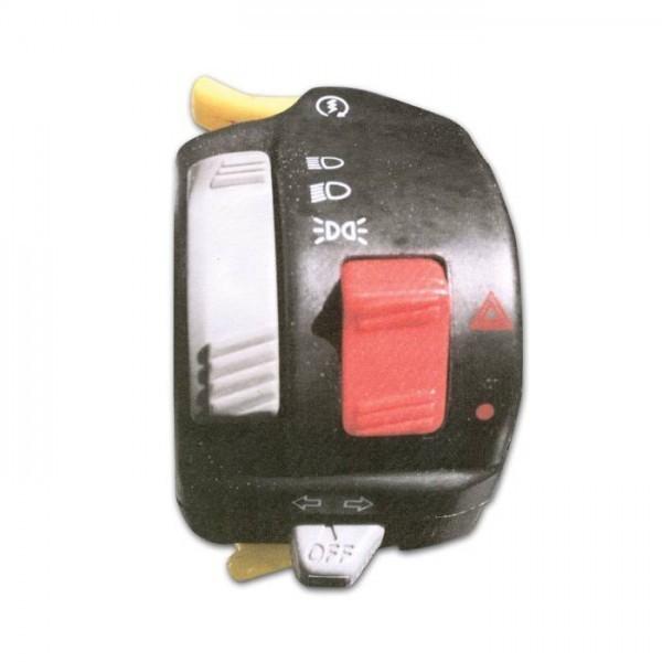 Yamaha univerzální levý sdružený přepínač, pro čtyřkolky / ATV, barva černá
