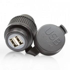 Zásuvka 2x USB 5V, vstupní napětí 12-24V, kabel 120cm