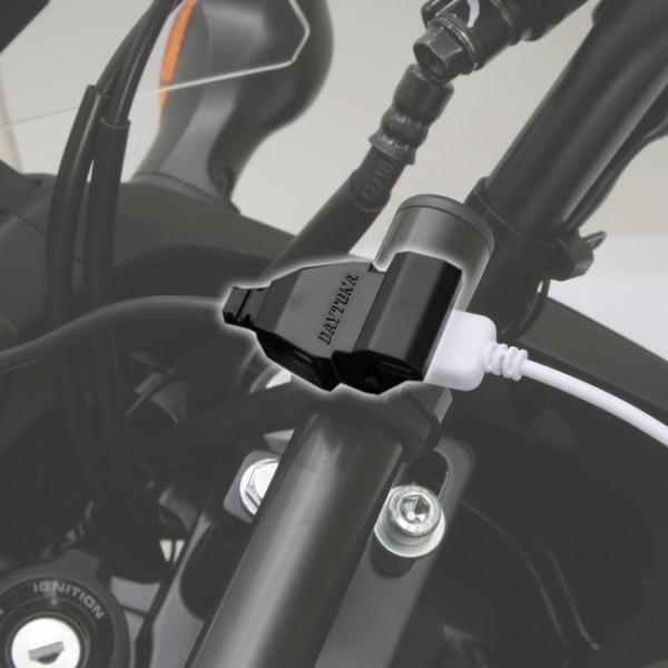 Zásuvka na řidítka, Daytona USB 5V / 1A, kabel 120cm