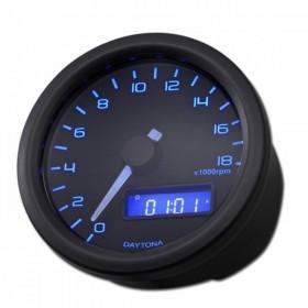 Otáčkoměr Daytona Velona 60, max. 18000 rpm, Ø 60mm, černý