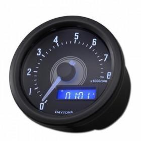 Otáčkoměr Daytona Velona 60, max. 8000 rpm, Ø 60mm, černý