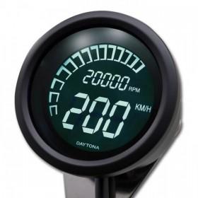 Digitální tachometr s otáčkoměrem Daytona Velona 60, max. 399 km/h, Ø 60mm, černý