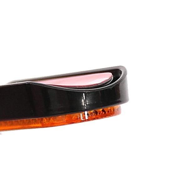 Oranžová odrazka 100 x 29 x 10 mm, na přední vidlici se zaoblenou samolepící plochou, (1ks)