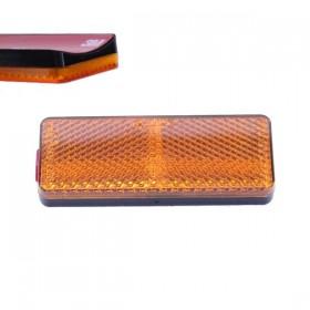 Oranžová odrazka 85 x 31 x 10 mm, na přední vidlici, se zaoblenou samolepící plochou, (1ks)