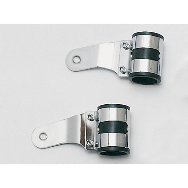 Univerzální držáky předního světla na přední vidlice Ø 43-47 mm, chromované, (pár-2ks)
