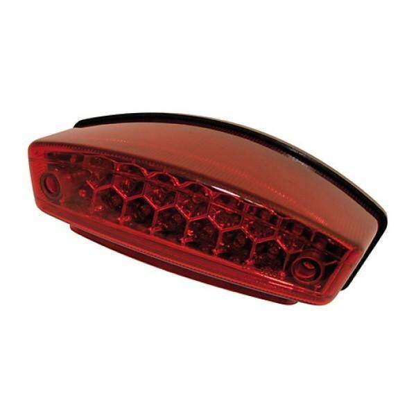 LED zadní světlo MONSTER RED, s osvětlením SPZ, červené