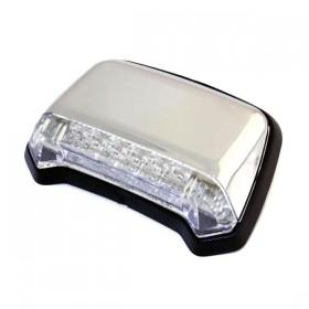 LED zadní světlo FENDER chromované, bez osvětlení SPZ, čiré