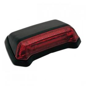 LED zadní světlo FENDER černé, bez osvětlení SPZ, červené sklo