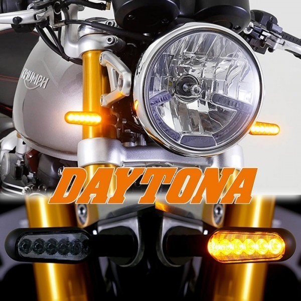 LED blinkry DAYTONA STELLAR SMOKE, sekvenční, hliníkové, černé, (pár - 2ks)