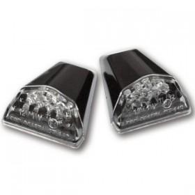 LED blinkry SWIFT CLEAR, do kapotáže, černé, samolepící, (pár - 2ks)
